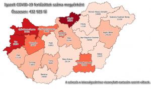 Megyénkben húszezer fő fölött a fertőzöttek száma