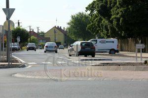Megnyílt az új körforgalom a közlekedőknek Tiszakécskén
